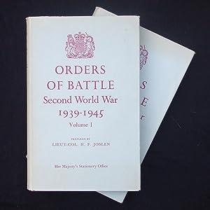 Orders of Battle. Second World War 1939-1945.: JOSLEN, H.F. Lieut-Col.