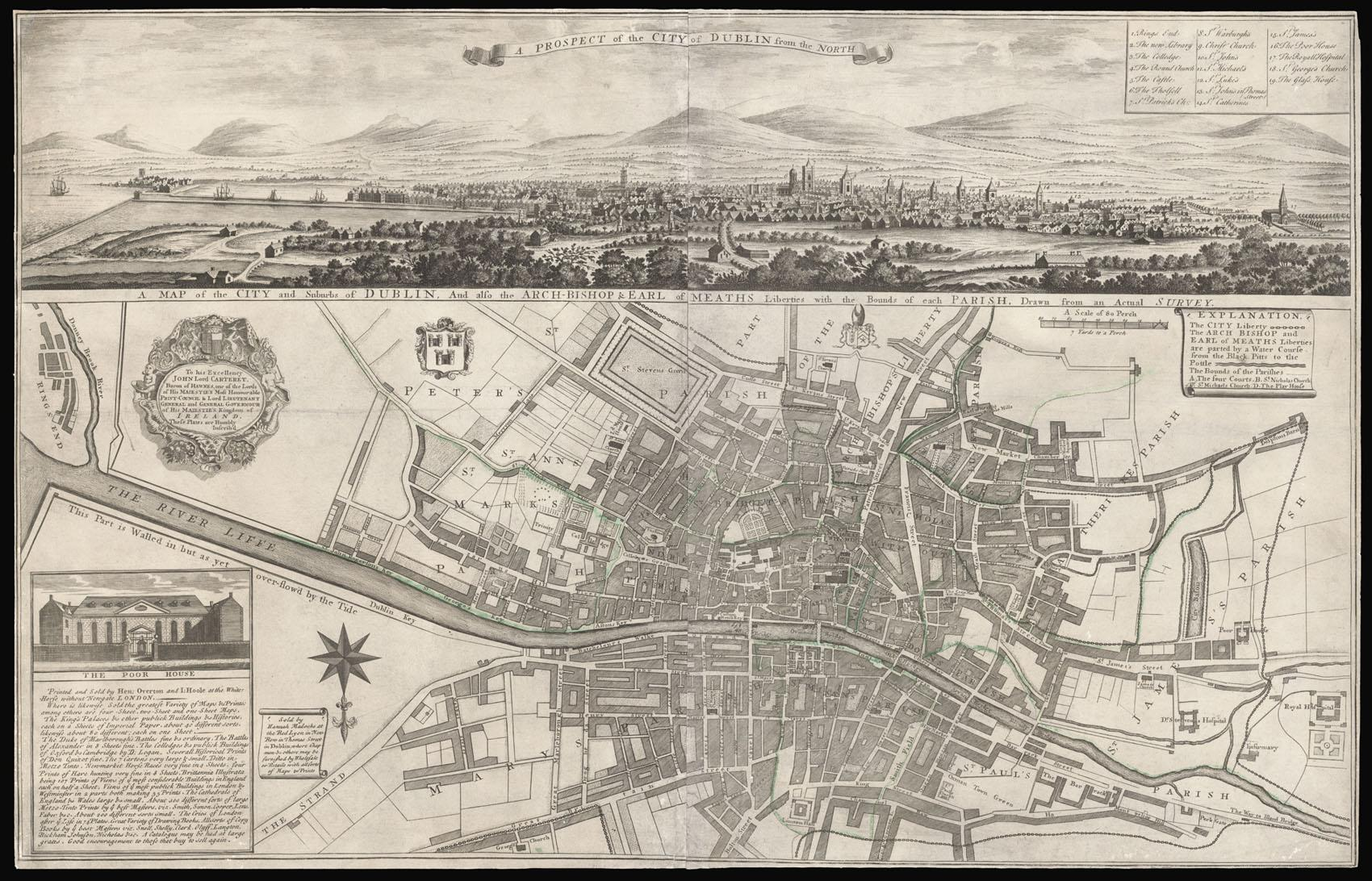 A Map of the City and Suburbs of Dublin And ...