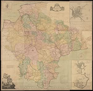 A Map of the County of Devon,: DONN, Benjamin [Engraved