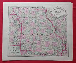 New Rail Road and County Map of Missouri