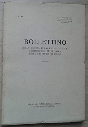 Bollettino della Società per gli Studi Storici,: AA.VV. (Fulcheri, Giuseppe:
