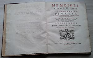Mémoires sur le Rang et la Préséance: Rousset, Mr. (Membre