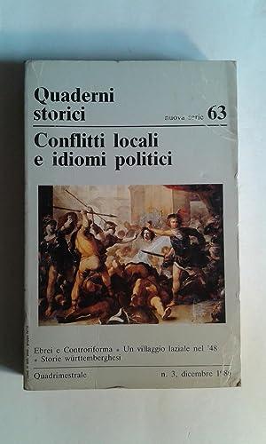 Conflitti locali e idiomi politici (Quaderni Storici: AA.VV. (Lombardini, Sandro