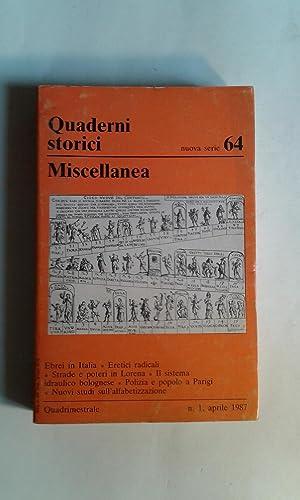 Miscellanea (Quaderni Storici / nuova serie N.: AA.VV. (Caracciolo, Alberto