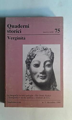 Verginità (Quaderni Storici / nuova serie N.: AA.VV. (Fiume, Giovanna