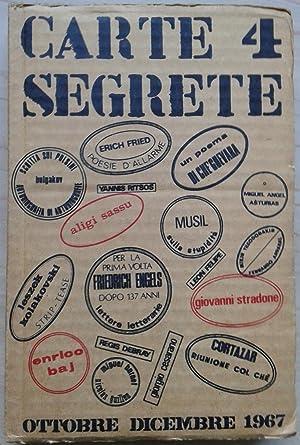 Carte segrete 4. Rivista trimestrale di lettere: AA.VV. (Javarone, Domenico: