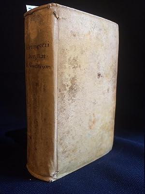 JO. GOTTL. HEINECCII (?) ELEMENTA JURIS NATURAE,: Heineccius (Heinecke), Johann