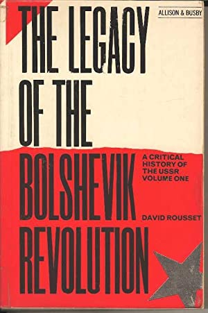 The Legacy of the Bolshevik Revolution. Volume I.