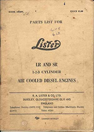 Parts List for Lister LR and SR