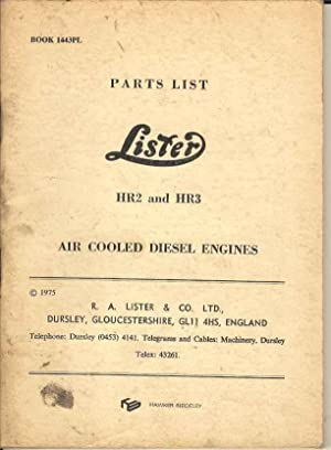 Parts List Lister HR2 and HR3 Air: Not credited