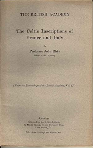 The Celtic Inscriptions of France and Italy