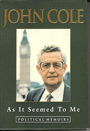 As it Seemed to Me. Political Memoirs