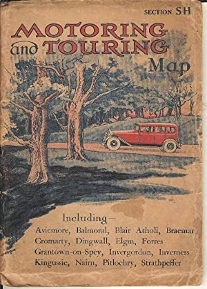 Motoring and Touring Map Section SH. Including Aviemore, Balmoral, Blair Atholl, Braemar, Cromart...