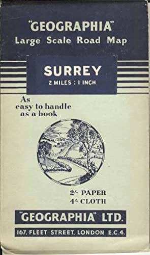Geographia Large Scale Road Map Surrey 2 Miles : 1 Inch