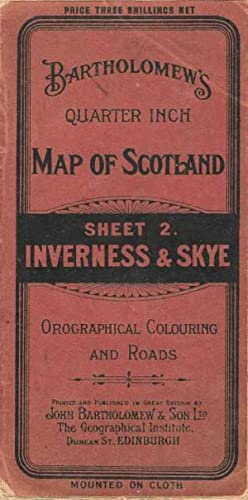 Bartholomew's Revised Quarter Inch Map of Scotland. Sheet 2. Inverness & Skye. Orographical Colou...