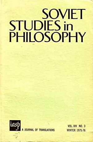 Soviet Studies in Philosophy