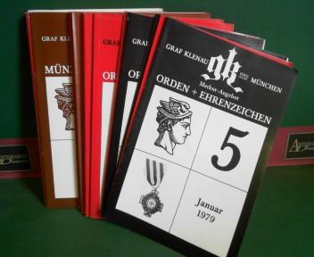 Partie von 19 Auktionskataloge von Orden, Medaillen: Graf Klenau OHG: