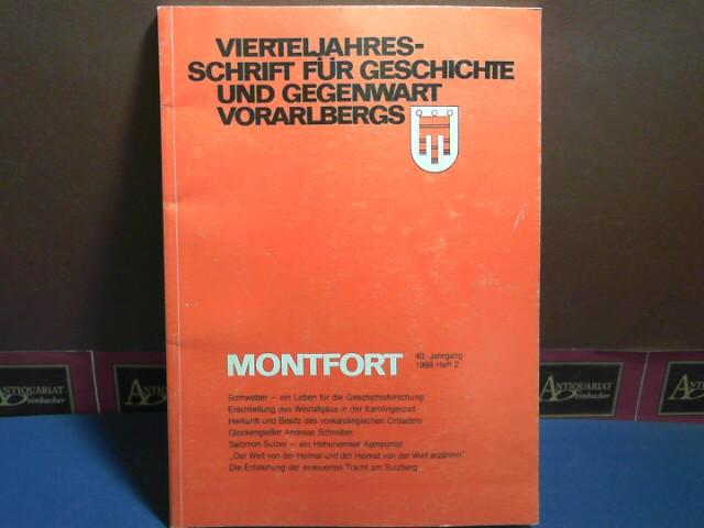 Montfort. Vierteljahresschrift für Geschichte und Gegenwart Vorarlbergs.: Benzer, Arnulf und
