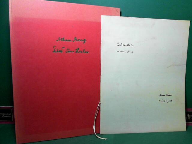 Alban Berg - Lied der Lulu -: Berg, Alban, Ernst