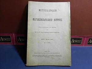 Mitteilungen des k.u.k. Militärgeographischen Institutes - XXX.