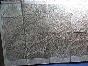 Schul-Karte: Die Schweiz. Ausgabe E. Maßstab: 1.600.000.: Kümmerly H.: