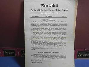 XX. Jahrgang 1921 Nr. 3/4, - Monatsblatt des Vereines für Landeskunde von Niederö...