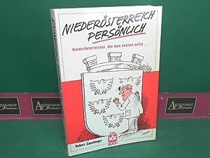 Niederösterreich persönlich - Niederösterreicher die man kennen sollte.: Zauchinger,...
