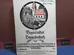 Bayerischer Heimatschutz. Zeitschrift des bayerischen Landsvereins für: Buchert, Hermann: