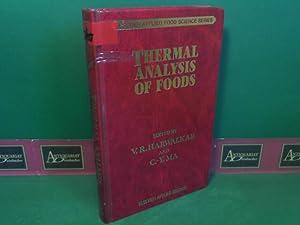 Thermal Analysis of Foods. (= Elsevier Applied Food Science Series).: Ma, C. Y. and V. R. Harwalkar...