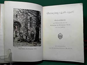 Grinzing 1426-1926. Gedenkschrift zur Erinnerung an die