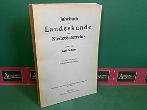 Jahrbuch für Landeskunde von Niederösterreich - Neue: Verein für Landeskunde