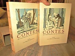 Contes et Nouvelles de La Fontaine. Aquarelles: LEROY (Maurice) -
