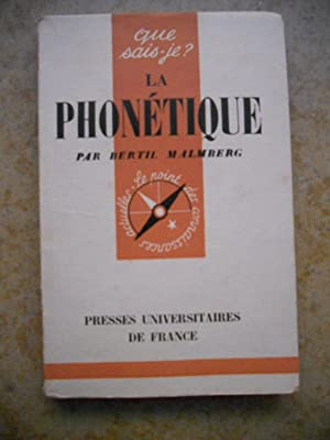 La phonetique: Bertil Malmberg