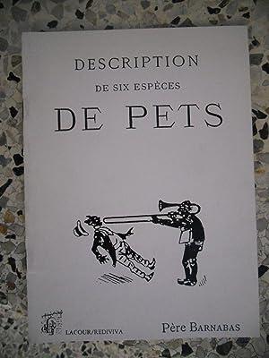Description de six especes de pets - Ou - Six raisons pour se conserver la sante, prechees le ...