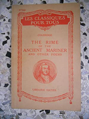 The rime of the ancient mariner and: Coleridge