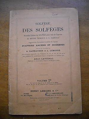 Solfege des solfeges - Nouvelle edition du: Henry Lemoine -