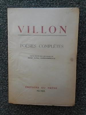 Villon - Poesies completes - Texte edite: Francois Villon -