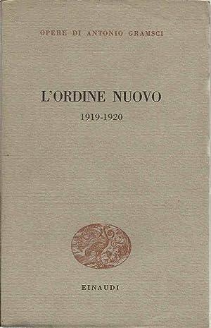 L'ordine nuovo 1919-1920: Gramsci, Antonio