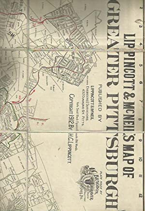 Map of Pittsburgh and suburban towns 1912