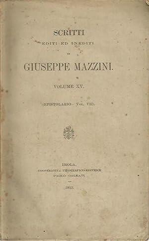 Scritti editi ed inediti di Giuseppe Mazzini.: Mazzini, Giuseppe