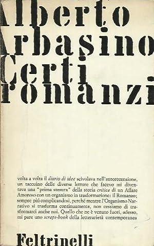 Certi romanzi: Arbasino, Alberto