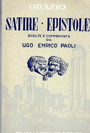 SATIRE ED EPISTOLE scelte e commentate da: Orazio Flacco Q.