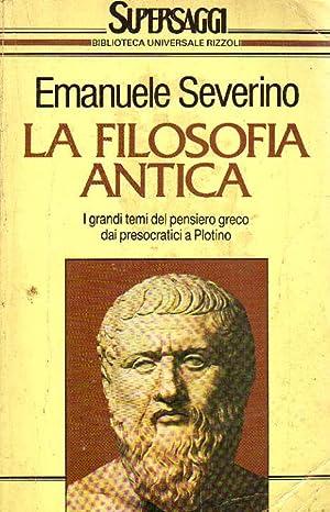 LA FILOSOFIA ANTICA.: EMANUELE SEVERINO