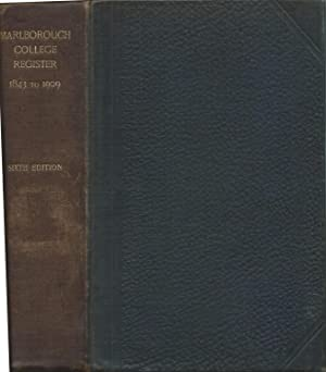 Marlborough College Register 1843 - 1909