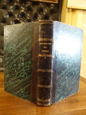 Dictionnaire des alimens et des boissons en: Aulagnier, Alexis-François.