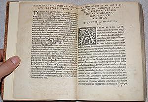 Diomedis grammaticae opus tripartitum. Prima parte membra uniuersi continentur sermonis. Secunda ...