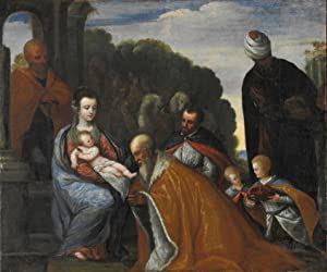 Adoration of the Magi / Adorazione dei Magi (Oil on Canvas, circa 1600)