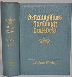 Genealogisches Handbuch des Adels. Band 24 der