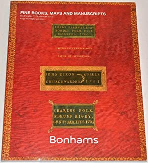 Bonhams - Fine Books and Manuscripts. Wednesday: Bonhams
