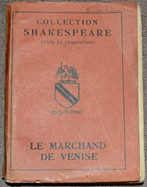 Le Marchand de Venise. Collection Shakespeare